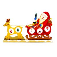Wholesale Wooden Carts - In 2016 the new Christmas decoration gifts Cartoon wooden Christmas deer cart desktop furnishing articles Christmas products gift furnishing