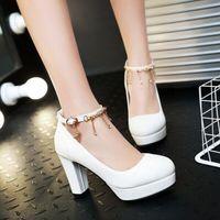 Wholesale Blue Pumps For Cheap - 2016 New Spring Cheap High Heels For Sale Online Women's Office Shoes Comfortable Elegant Fashion Platform Pumps