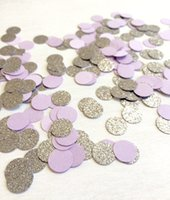 Viola Silver Glitter Confetti | Circle Confetti | Bridal Shower | Decor Tabella | matrimonio | Baby Shower | Piccoli Confetti | Argento