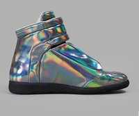 Wholesale Silver Hip Hop Shoes - 2016 new free shipping Fashion men Sneakers Genuine Leather Hi-Stree Hip Hop Casual Men Sports Shoes 37-46