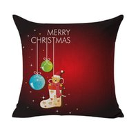 Wholesale christmas room decor resale online - Eco Friendly Christmas Decoration Pillow Case Gift Home Square Cover Throw Sofa Cushion Cover Pillow Case Decor Sofa Bed Car Room