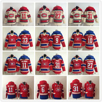 hoodies de hockey carey achat en gros de-Chandails à capuchon des Canadiens de Montréal 6 Shea Weber 31 Prix de Carey de PATRICK ROY 11 Chandails à capuchon de Sweat à capuche d'Alex Galchenyuk de Brendan Gallagher 67 Max Pacioretty