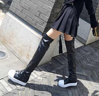 Wholesale Crazy Shops - Shop Women's Rick Owens Boots From yakuda 's store,Women's Black Stocking Sneak Tall Boots,Plus velvet Shoe,2018 Trainers Crazy Runner Shoes