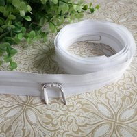 Wholesale Quilt Double - Two-way separating invisible nylon zippers Length: 1 M conceal zipper with double sliders pillow quilt sleeve sewing accessories DL_ZIP005