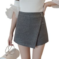 Wholesale Pant Skirt Plus Size - Winter Women High Waist Short Pants Casual Elastic Wasit Skinny Short Skirt Solid Plus Size Booty Shorts Free Shipping