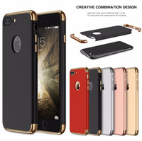 Wholesale Neo Premium - For iPhone x 6 6s 7 8 Plus Neo Hybrid Hard Matte PC Armor Gold Back Cover for Apple iPhone8 Premium Combo 3 in 1 Shockproof Phone Cases