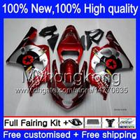 Wholesale K4 Fairings - Red star Body For SUZUKI GSX R750 04 05 GSXR 750 600 04-05 Dark red silvery 2Y81 R600 K4 GSXR600 GSXR750 2004 2005 Bodywork Fairings kit