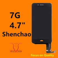 Wholesale Touch Screen Display Glass Digitizer - Quality A+++ LCD Display For iPhone 7 Shenchao LCD Screen Touch Glass Screen Digitizer Full Assembly Replacement Black & White DHL Shipping