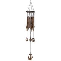 metal dekorasyon el sanatları toptan satış-62 cm Carillon Açık Oturma Yard Rüzgar Çanları 9 Tüpler Bells Bahçe Windchime Dekorasyon El Sanatları Ev Asılı Dekor Için