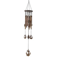 Artisanat De Décoration De Jardin Pas Cher-62cm Carillon Outdoor Living Yard Wind Chimes 9 Tubes Bells Garden Windchime Décoration Crafts For Home Pendentif Décor