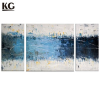 Wholesale Contemporary Homes Pictures - KG Textured Handmade Painting 3 Pieces Artwork Modern Abstract Oil Paintings Unframed Home Decorations Contemporary Artwork Wall Art