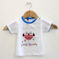 Wholesale Wholesaler For Baby Apparel - Summer T-Shirt for Children 2016 Kid Apparel Baby Little Sweety Pattern tshirt Boys Girls Embroidery Tops Tees Outwear 5pcs lot