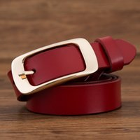 Wholesale Womens Belt For Jeans - 2017 fashion brand 100% genuine leather women belt metal pin buckle vintage belts for womens jeans high quality free shipping