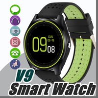 Wholesale T Mobile Watch Phones - V9 smartwatch android V8 DZ09 U8 samsung smart watches SIM Intelligent mobile phone watch can record the sleep state Smart watch T-BS