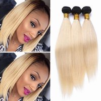 Wholesale hair weave supplies - 8A 1B Ombre 613 Blonde Color Malaysian Remy Human Straight Weaving Natural Hair Bundles Factory Supply