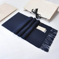 Wholesale cashmere scarf men blue - Top 100% Cashmere Winter Scarf Man And Women Brand Big Size Scarves Men Pashmina Infinity Scarf Women Thick Shawls (B002)