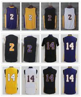 Wholesale 2017 Hotsale Men Basketball Throwback Stitched Jersey Lonzo Ball Brandon Ingram shirt with player name team logo price
