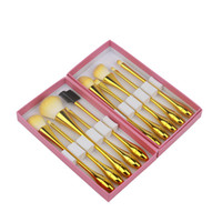 Wholesale professional makeup tool box for sale - Princess Rose Water Droplets Small Waist Makeup Brushes Professional Make Up Brush Set with Box Yellow Cosmetic Brushes Tools Kits