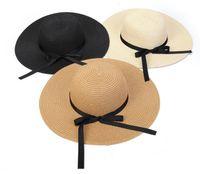 bebek kızları için hasır şapkalar toptan satış-Sıcak satmak Yaz Yeni Moda Kız Prenses Şapkalar çocuk Plaj Şapka Çocuklar Yaz Delikli-out Sunhats Bebek Moda Hasır Şapka Yaylar A9296