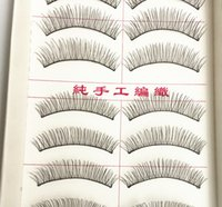 Wholesale Eye Lashes 217 - Wholesale-10 Pairs Makeup Handmade Natural False Eyelashes Soft Eye Lash Cosmetic 217