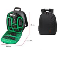 Wholesale Video Camcorder Bags - Waterproof Waterproof DSLR Camera Lens Backpack Case Bag photography digital camera video backpack For Nikon Canon Sony
