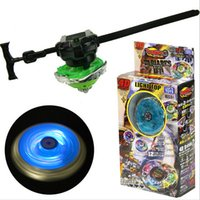 Wholesale New Beyblade Sets - New Style 4D Light Top Colorful Alloy Beyblade Metal Fusion With Launcher Baby Gifts