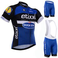 mtb saxo banka forması toptan satış-Bir 100% saxo banka tinkoff bisiklet jersey bicicletas Kısa Kollu mtb bisiklet yaz bisiklet giysileri Önlüğü kısa kıyafet Fabrika doğrudan satış