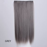 ZF Synthetic Fiber Hair Weft Straight Tape Extension de cabelo 5 Clip no cabelo 24inch Long Cheap Wholesale Promotion