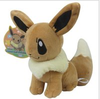 Wholesale Rare Pokemon - Poke Plush Size 20cm Plush Toy Eevee Soft Stuffed Animal Rare Cool Collectible Doll Xmas Gift for Kids Boys Free Shipping Hot Sale