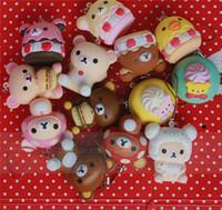 Wholesale San X Wholesale - 7cm original packing soft kawaii squishy mix Rilakkuma queeze bun toys for cell phone san-X squishies bread free shipping