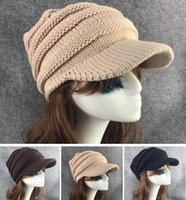 New Fashion Women Ladies Berets Outono Inverno Crochê Quente Mechado Slouchy Stingy Brim Cap Tide Crochet Hat