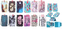 Wholesale Soft Leather 4s Card - more card slot Human skeleton Flowers leopard print Imagery Printing Leather TPU Soft wallet Cover for iphone 4S 5C 5S SE 6S PLUS
