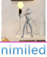 Discount industrial painting - nimi1030 Italy Seletti Monkey Lamp Lights Bedside E27 Resin Paint Table   Desk Lighting Creative Bedroom Hotel Living Room Industrial Lamps