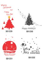 New Christmas Wall Stickers Tree Merry Christmas Wall Stickers Mural Art Decal Wall Paper Arte de inverno Holiday Room Decoration 77