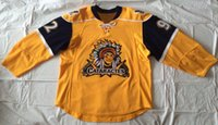 Wholesale Free Peter - #92 Peter Sakaris Jersey,Peter Sakaris Game Worn Shawinigan Cataractes Jersey Evansville Icemen Any Name and Any Number Yellow Free Shipping