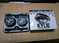 Wholesale Eyeliner Colors Waterproof - Kylie Cosmetics Kylie Jenner Eyeliner Gel Waterproof Makeup Eye Liner Gel Make Up Black Brown 2 Colors Free DHL shipping