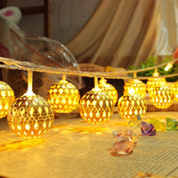 Wholesale Flexible Ice - Holiday Light Novelty Moroccan Flexible Strip 20 Lamp Balls Set LED String For Wedding Party Fairy Lights Halloween Christmas Decoration