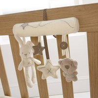 Wholesale Farm Animal Products - Kawaii Musical Soft Plush Rabbit And Bear Baby Rattle Hanging Toy Stroller Star Hanging Rattle Mobile Products Cute Baby Toys