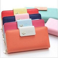 Wholesale Designer Purse Orange - Long Designer Famous Luxury Brand Women Wallets Lady Female Card Coin Purse Carteras Clutch Bag Walet Money Cuzdan Pocket Vallet