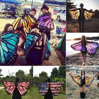 Wholesale Butterfly Robes - Wholesale- 2017 Pareo Beach Cover Up Butterfly Wing Cape Bikini Cover Up Swimwear Women Robe De Plage Beach Bathing Suit Cover Up