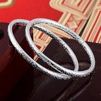 pulseras de plata tibetana pulseras al por mayor-Bohemia de moda 925 pulseras plateadas de la joyería para las mujeres del amor tibetano encantos de la boda brazalete pulsera de calidad superior grado regalo de navidad