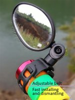 Wholesale Wide Handlebars - High Quality Universal 360 Rotate Bike Bicycle Cycling Handlebar Wide Angle Rearview Mirror Black Bicycle Accessories