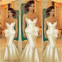 Wholesale Sweetheart Ruffled Taffeta - Sexy Sweetheart Mermaid Formal Evening Dresses 2016 Taffeta Ruffles Convertible Long Cheap Bridesmaid Dress Backless Prom Gowns