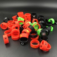 Wholesale Protect Flash - Vape bands silicone rings with Superman Flash Captain America various colors to protect rda rta atomzier mods vaporizer