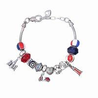 europäische hummer armbänder großhandel-European Charm Bracelets mit Beach Ball Perlen Motorrad baumelt DIY Perlen Armreif Armbänder einstellbar Karabinerverschluss BL179