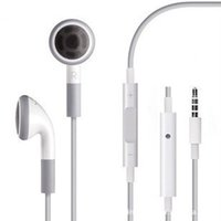 Wholesale Earphone For Iphone 5g - Headphone Headset 3.5mm with Mic Earphones for iphone 4 4S IPHONE 6 6G 5 5G 5S 5C