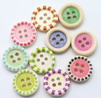 Wholesale Wholesale Bulk Buttons For Clothing - Mixed Wooden Buttons in Bulk Buttons for Crafts Button Round Colorful Painting Buttons for Children Clothes