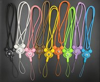 Wholesale Wholesale Ring Wristlet - Lynon Detachable Sling Hook Lanyard Wrist Straps Charms Rings Holder Keychain Wristlet Animals Styles for Mobile Phone USB ID Card