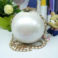 Wholesale Globe Brand - 100% Brand New Designer Handbag Pearl Global Purse Elegant Tyrant Ball Bag Shoulder Bag Acrylic Globes Evening Bags Banquet Messenger - ZZ1