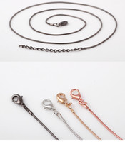 Wholesale Chrismas Tin - DIY New Fashion Design Unisex Alloy Gunmetal Flexible White K Gold Snake Necklace Hot Chrismas Gift 60cm